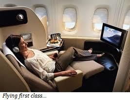 First class flights are among the best places to meet women