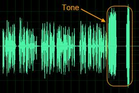 This is the intonation of your voice tone as a graph chart