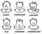 Here are some examples of facial expressions. As you can see: you can use facial expressions for a lot of things, but today I'll be talking about how to use them for meeting women!